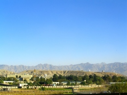 Mountains surrounding Kabul