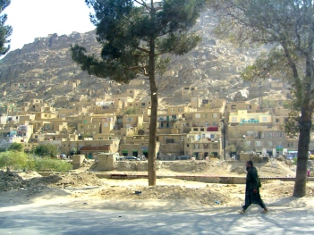 Dusty hillside, Kabul