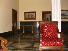 Inside the presidential palace
