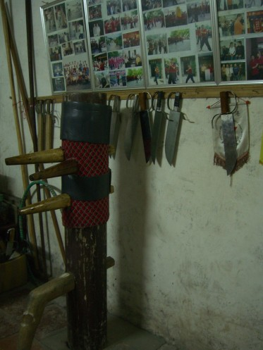 Wooden dummy and butterfly knives
