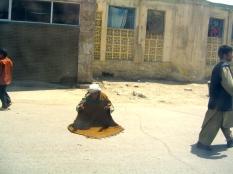 Man praying on the street