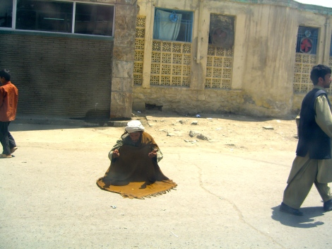 Man praying on the street